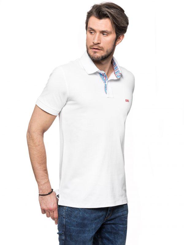 Koszulka polo Improve biała