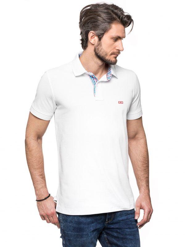 Biała koszulka polo Improve